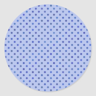 Blue Polka Dots Classic Round Sticker