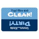 Blue Polka Dots Clean Dirty Dishwasher X301 Flexible Magnet