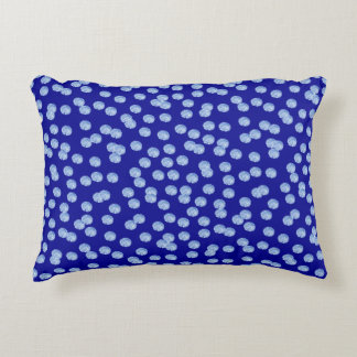 Blue Polka Dots Cotton Accent Pillow