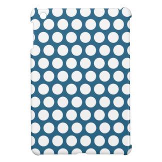 Blue polka dots cover for the iPad mini