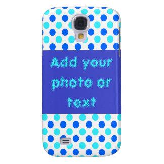 Blue Polka Dots - Custom iPhone Cases