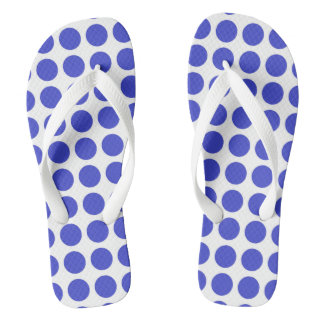 Blue Polka Dots Flip Flops