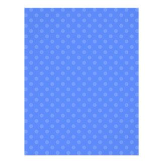 """Blue polka dots 8.5"""" x 11"""" flyer"""