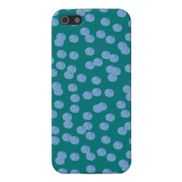 Blue Polka Dots Glossy iPhone 5/5s/SE Case