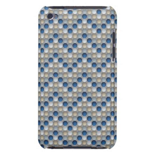 Blue Polka Dots In Zig Zag Pattern iPod Touch Case