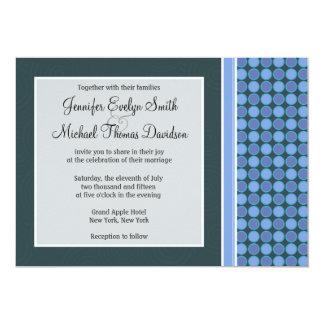 "Blue Polka Dots 5"" X 7"" Invitation Card"
