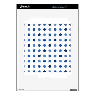 Blue Polka-dots iPad 2 Skin