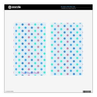 Blue Polka Dots Kindle Fire Skin