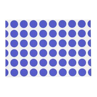 Blue Polka Dots Laminated Placemat