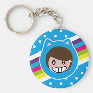 blue polka dots lilith's keychain