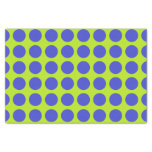 Blue Polka Dots Lime Green Tissue Paper