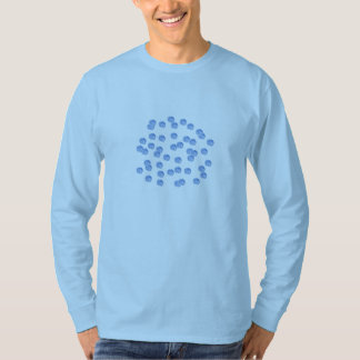 Blue Polka Dots Men's Basic Long Sleeve T-Shirt
