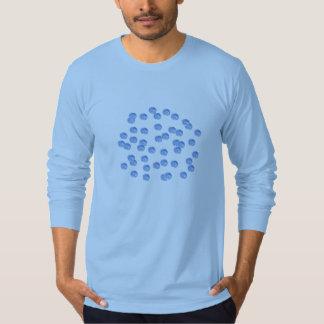 Blue Polka Dots Men's Jersey Long Sleeve T-Shirt