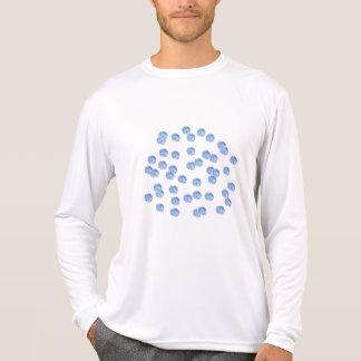 Blue Polka Dots Men's Sports Long Sleeve T-Shirt