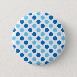 Blue polka dots pattern button