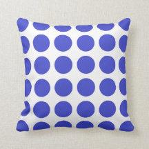 Blue Polka Dots Pillow