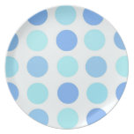 Blue Polka Dots Plate