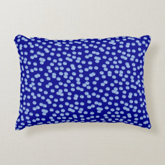 Blue Polka Dots Polyester Accent Pillow