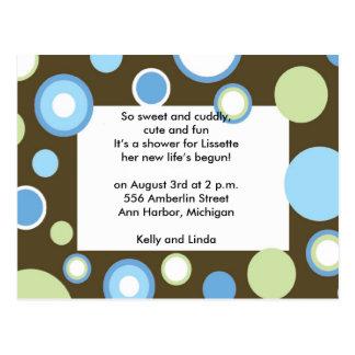 Blue Polka Dots Postcards