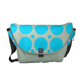 Blue Polka Dots Rickshaw Messenger Bag