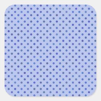 Blue Polka Dots Square Sticker
