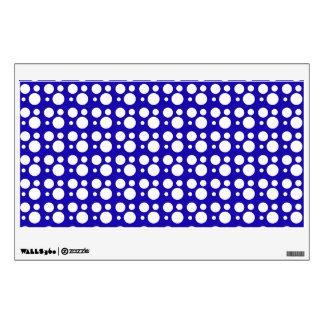 blue polka dots wall decal