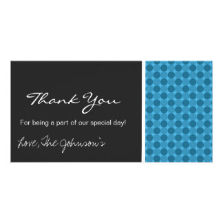 Blue Polka Dots     Wedding Thank You Photo Cards