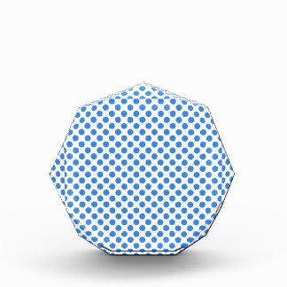 Blue Polka Dots with Customizable Background Award