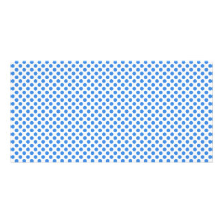 Blue Polka Dots with Customizable Background Card