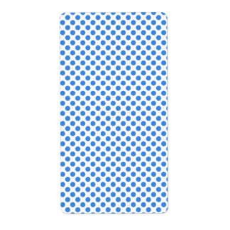 Blue Polka Dots with Customizable Background Label