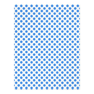 Blue Polka Dots with Customizable Background Letterhead