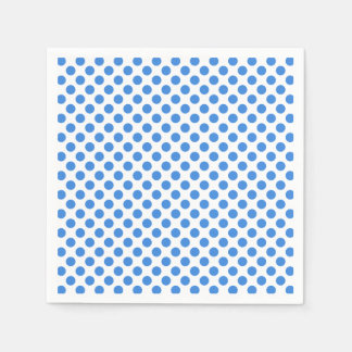 Blue Polka Dots with Customizable Background Napkin