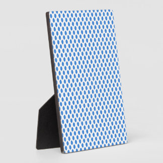 Blue Polka Dots with Customizable Background Plaque