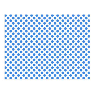 Blue Polka Dots with Customizable Background Postcard