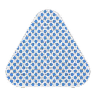 Blue Polka Dots with Customizable Background Speaker