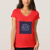 Blue Polka Dots Women's V-Neck T-Shirt