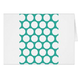 Blue polka doty card