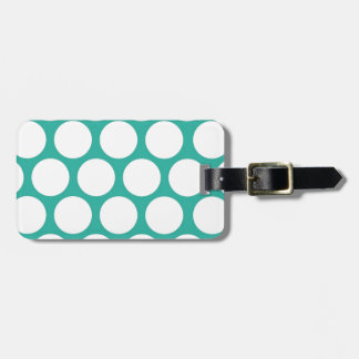 Blue polka doty bag tags