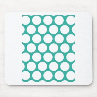Blue polka doty mouse pad