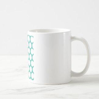 Blue polka doty mugs