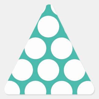 Blue polka doty triangle sticker