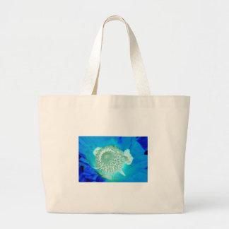 blue pollinate german flower in ultramarine canvas bag