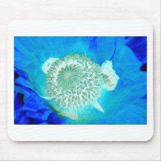 blue pollinate german flower in ultramarine mouse pad