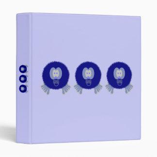 Blue Pom Pom Babies Binder