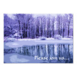 Blue Pond Winter Solstice Party Invitation
