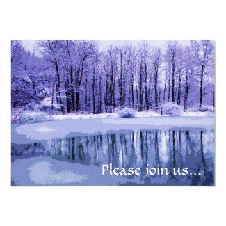 Blue Pond Winter Solstice Party Invitation