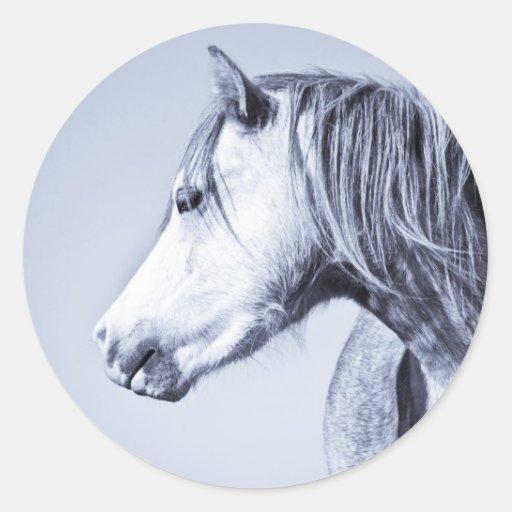 Blue Pony Classic Round Sticker