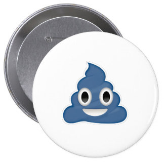 Blue Poo - -  Button