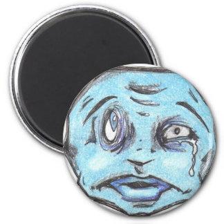 Blue POO HEAD magnet