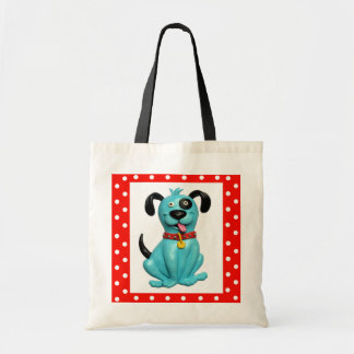 Blue Pooch Canvas Bags